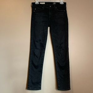 AG denim distressed jeans the Stevie ankle